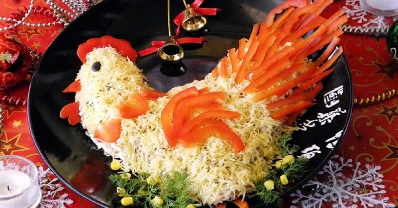 """""""Петух"""" - самый главный салат на новогоднем столе"""