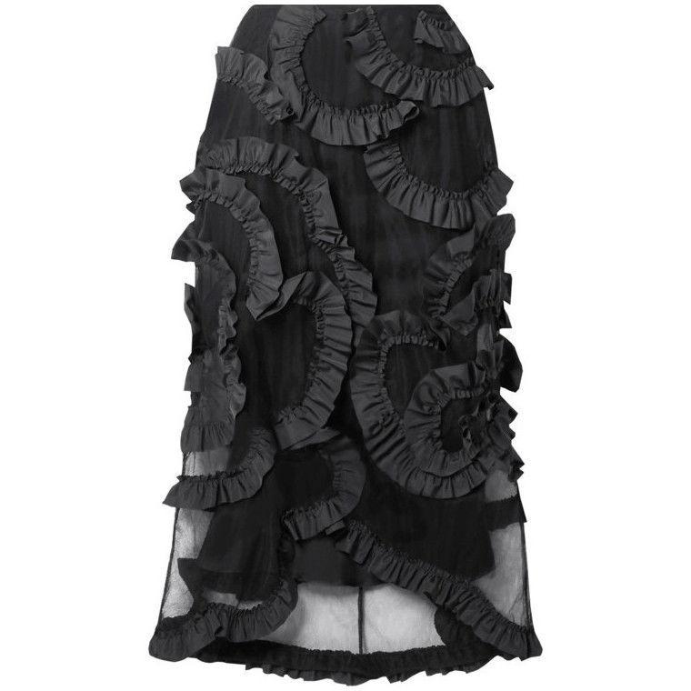 Весна 2020 — юбки сложного кроя, длина миди, фото № 10