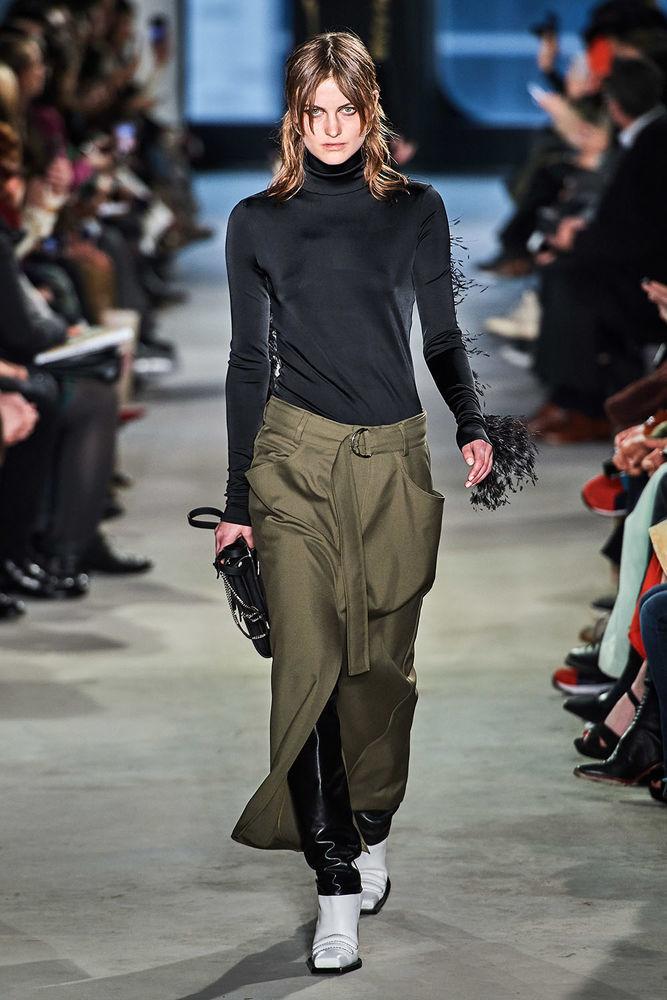 Весна 2020 — юбки сложного кроя, длина миди, фото № 43