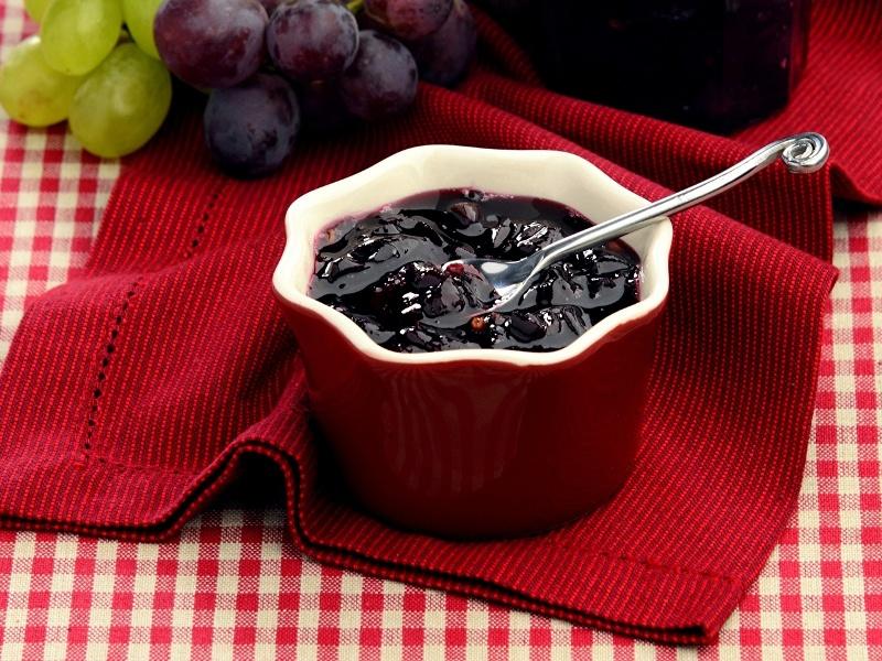 густой джем из винограда