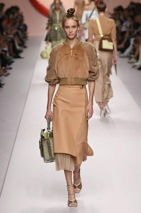 Fendi коллекция | Коллекции весна-лето 2019 | Милан | VOGUE