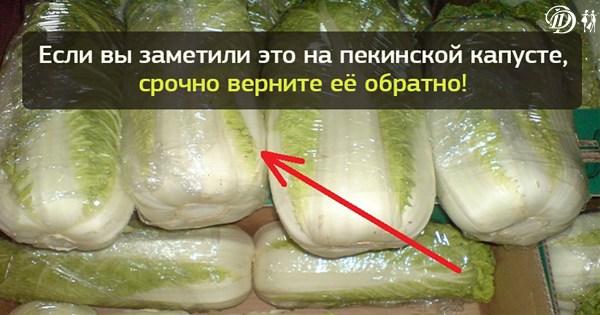 Не покупайте пекинскую капусту, если заметили на ней…