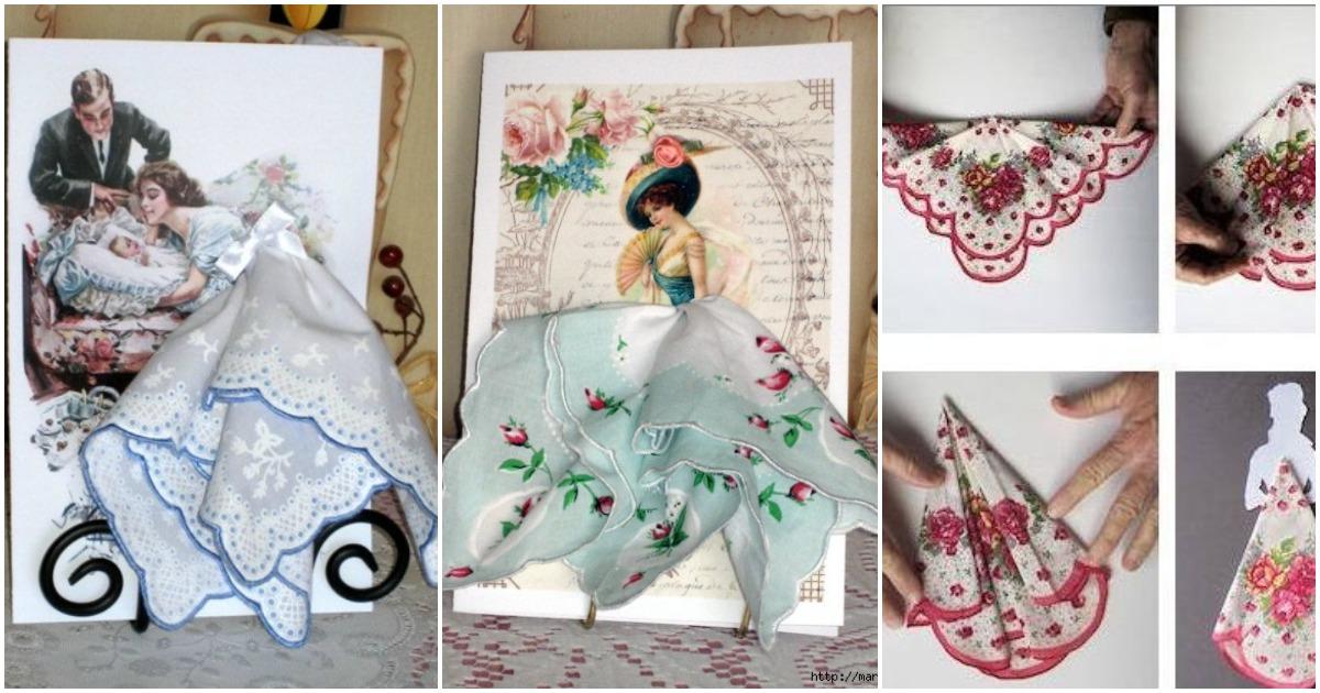 Объемные открытки с текстильными деталями