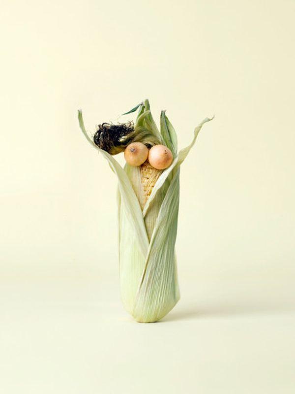 Забавные поделки из овощей