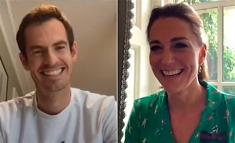 Уимблдон на дому: Кейт Миддлтон и Энди Маррей поговорили со школьниками о теннисе