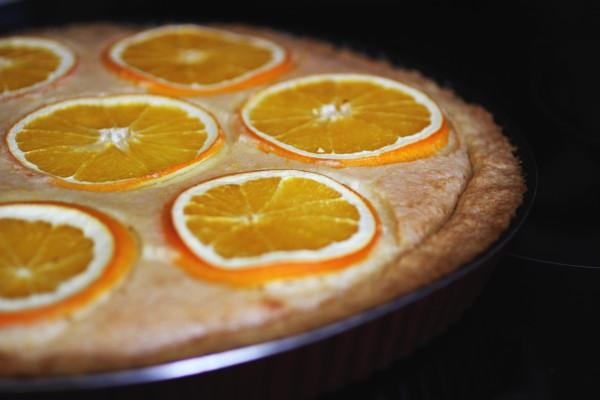 Лимонный тарт с апельсинами