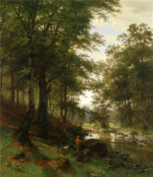 Автор картины – немецкий художник Фриц Эбель (Fritz Ebel).