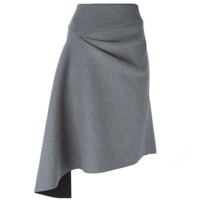 Весна 2020 — юбки сложного кроя, длина миди, фото № 38