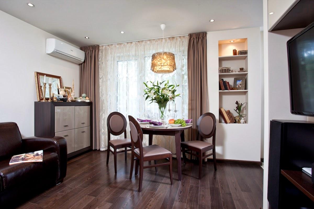 Маленькая, очень маленькая студия со спальней, 33 кв.метра. Нравится?