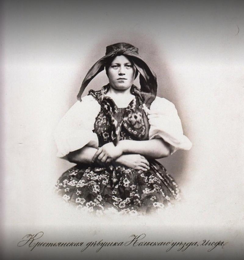 21-летняя крестьянская девушка из Кольского уезда 19 век, жизнь до революции, редкие фотографии, снимки, фотографии, царская россия