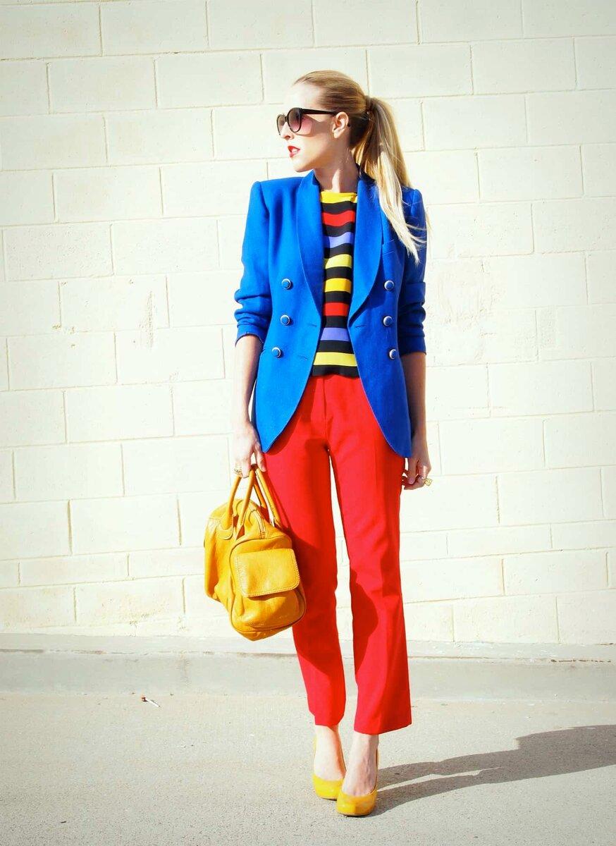 Колорблок синий и красный