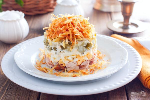 Салат с картошкой пай