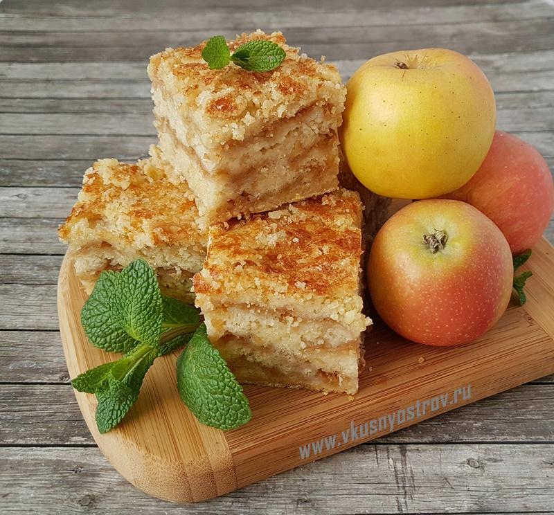 Насыпной яблочный пирог кулинария,сладкая выпечка
