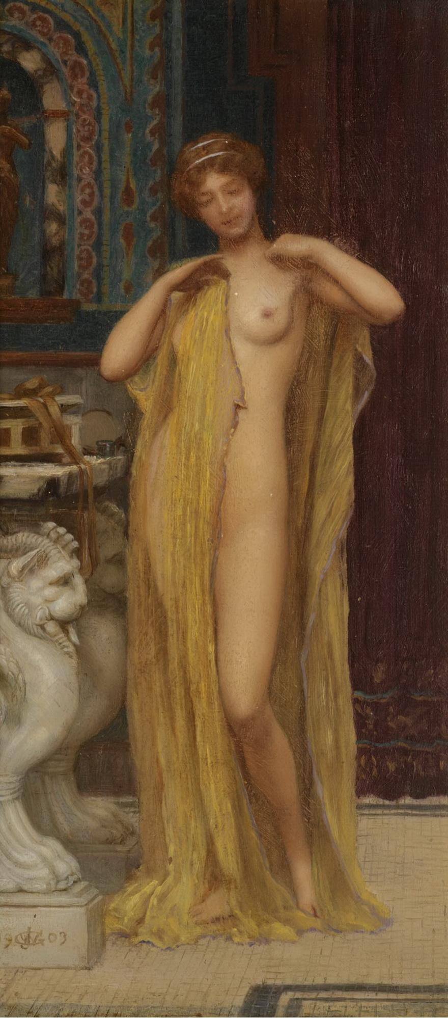 1903_Пирра после купания (Пирра жена Девкалиона, выжившая после потопа, устроенного Зевсом) (29 х 14 см) (ч.с.)