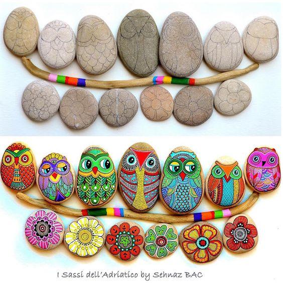 Роспись камней - вдохновляемся!