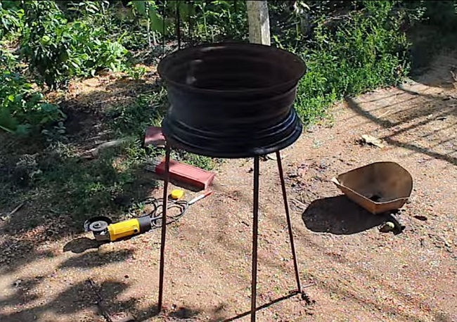 Мангал из дисков автомобиля. Изготовление мангала для шашлыков своими руками мастерство,новая жизнь старих вещей,своими руками,сделай сам,умелые руки