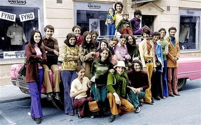 Молодой Усама бен Ладен с его семьей в Швеции в 70-х