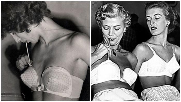 «Надувной» бюстгальтер blow up: создай себя сама (1950-е годы).
