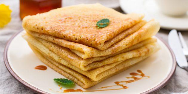 Рецепты блинов на кефире: ажурные заварные блины на кефире и молоке