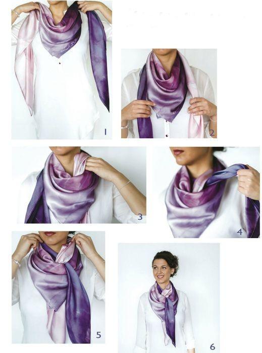 Картинка как завязать шарф