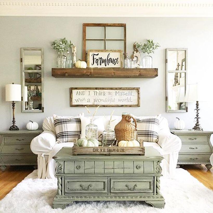 Удивительные идеи для гостиной в стиле Farmhouse.