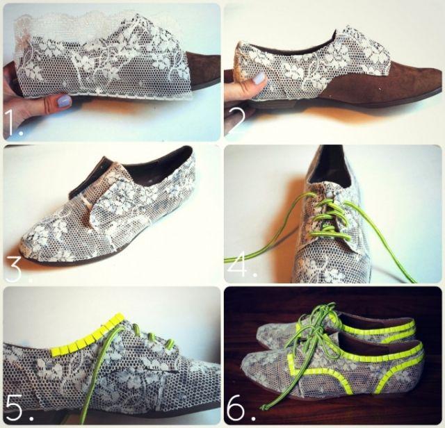 результате, как обновить старые туфли своими руками фото добавляю муку, смешанную