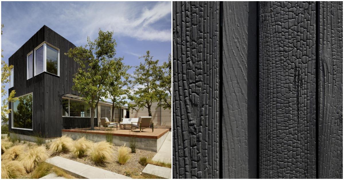 Shou-Sugi-Ban: интересное оформление фасада дома. Дома выглядят так, как будто пережили пожар