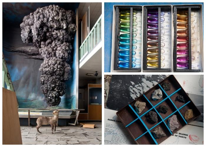 Остались на месте все экспонаты и ценнейшие образцы вулканических пород (Музей вулканологии у подножия вулкана Асама, Япония).