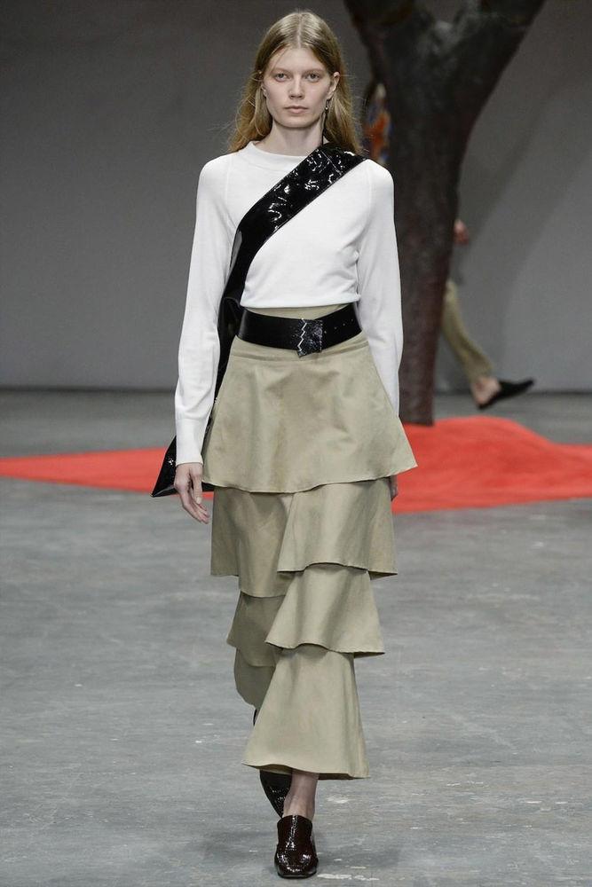 Весна 2020 — юбки сложного кроя, длина миди, фото № 7