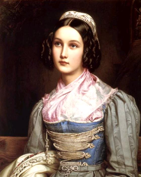 Хелена Зедльмайр - дочь сапожника, 1831 год. | Фото: ru.wikipedia.org.