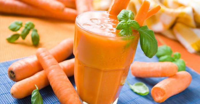 Коктейль «Морковь и имбирь» …