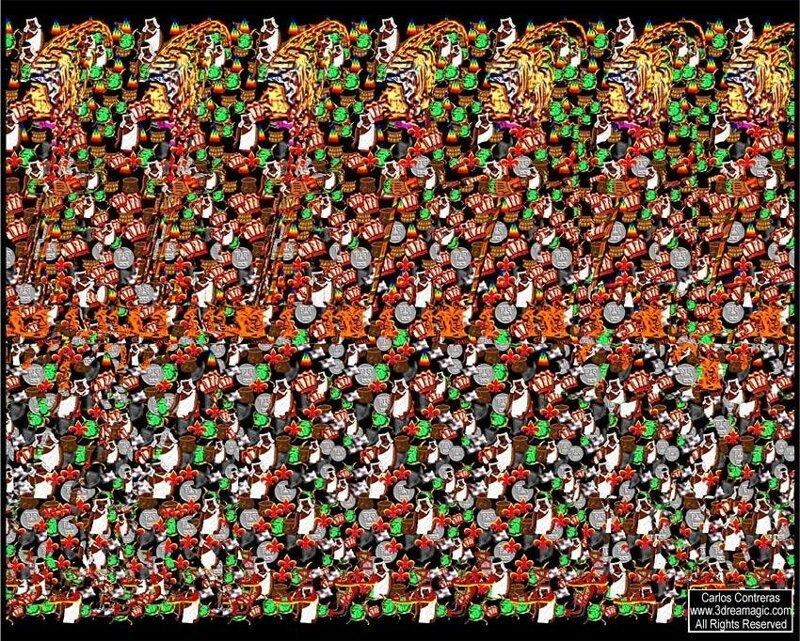 Стереограммы Стереограмма, иллюзия зрения, объемное изображение