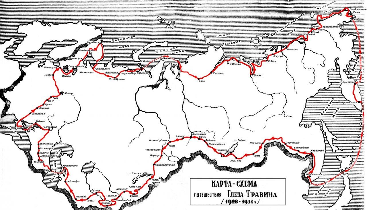 Маршрут путешествия легендарного велосипедиста. Фото: псковский музей-заповедник
