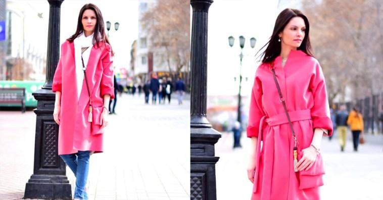 Теплое и модное пальто…всего за один час и без выкройки