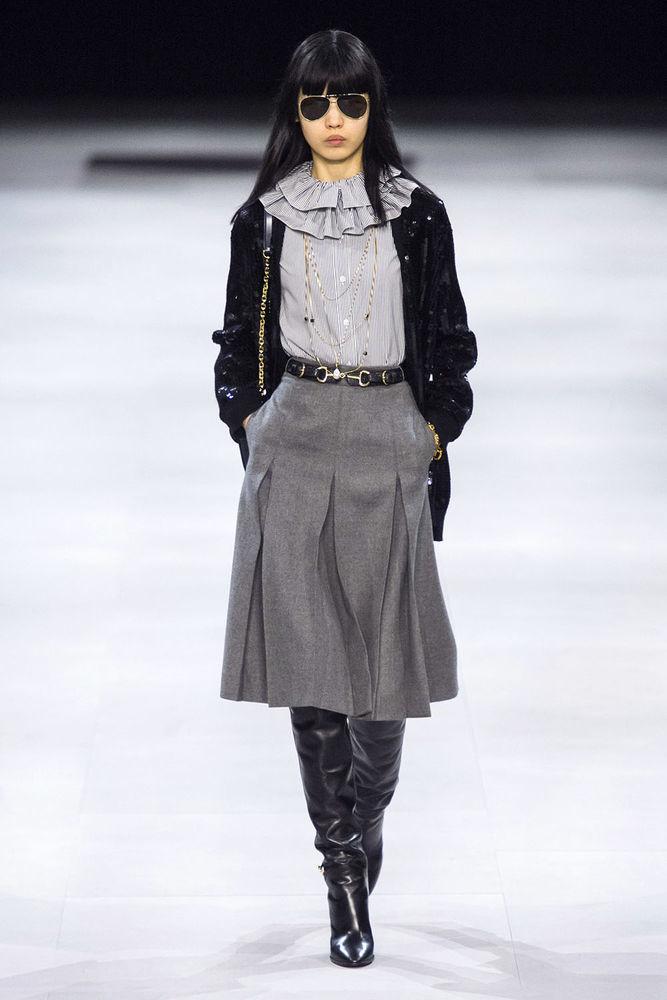 Весна 2020 — юбки сложного кроя, длина миди, фото № 17