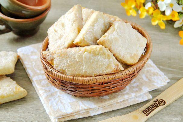 Слоеное печенье на сметане