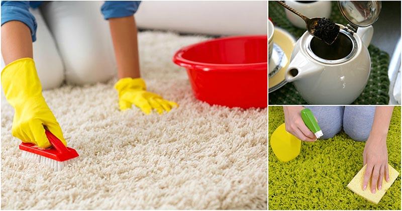 Очистить ковёр без химии? Легко, с помощью 3 проверенных способов