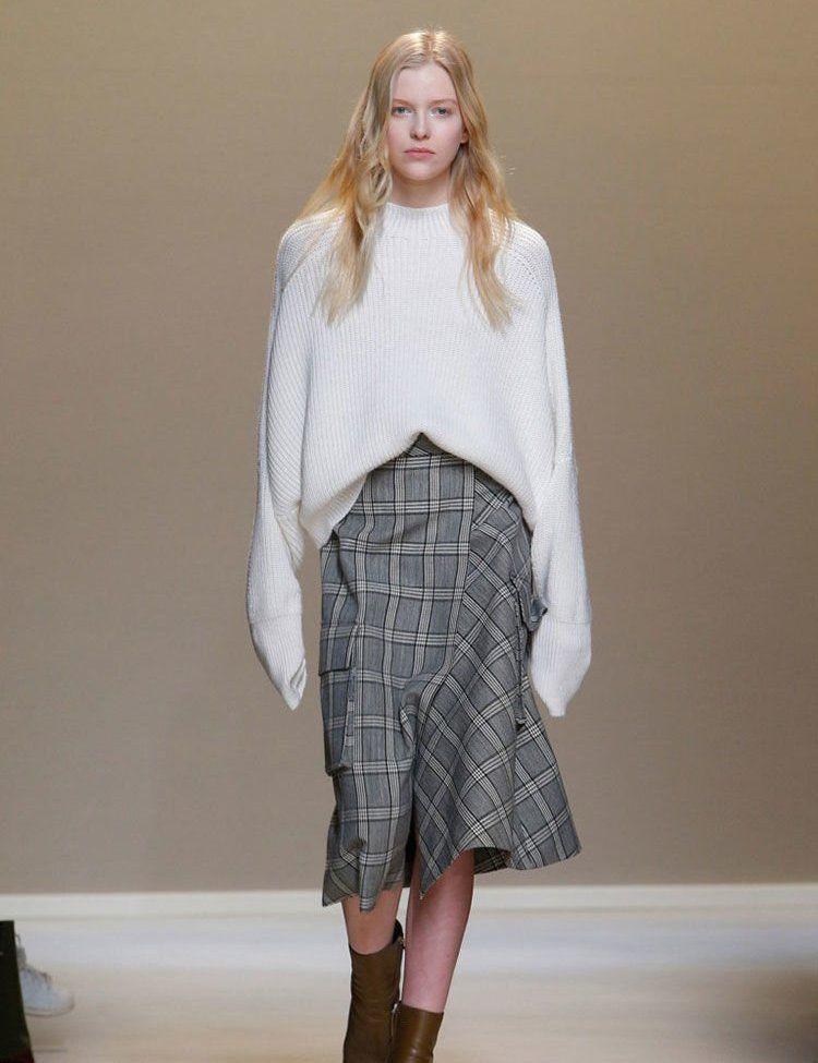 Весна 2020 — юбки сложного кроя, длина миди, фото № 26
