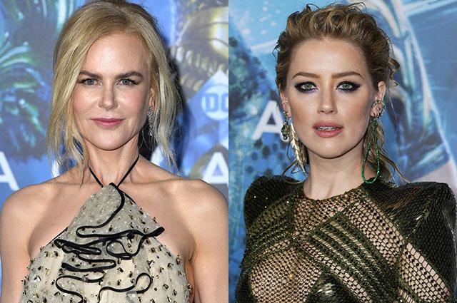 Николь Кидман и Эмбер Херд стали главными звездами на премьере