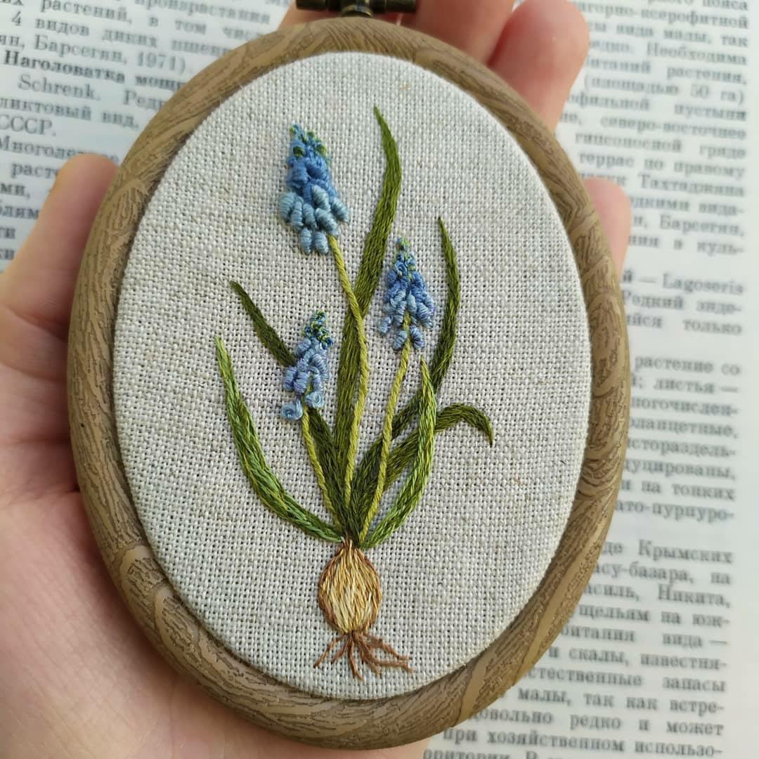 🌿 Полевые цветы. Вышивка