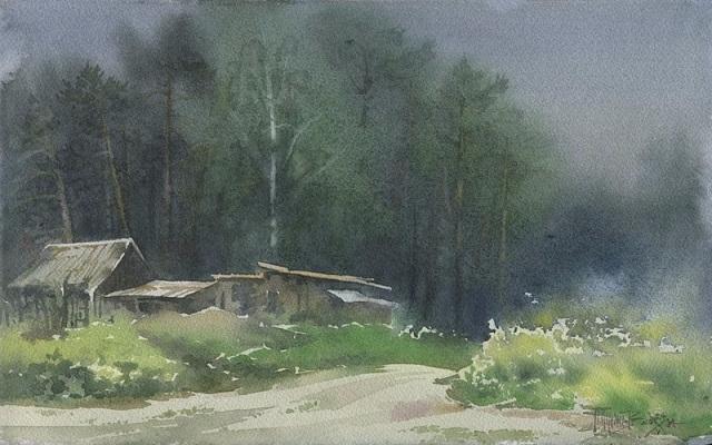 Дорога в туман (640x400, 241Kb)