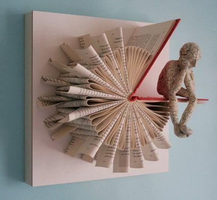 Инсталляции из книг (трафик)