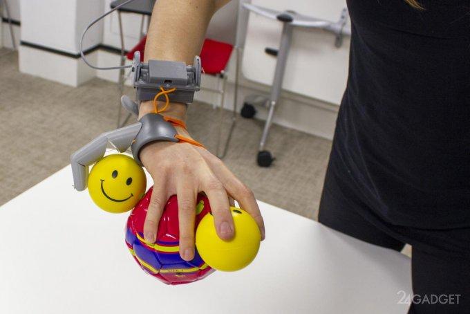 Шестой палец оказывает влияние на работу человеческого мозга будущее,гаджеты,наука,приборы,техника,технологии,электроника