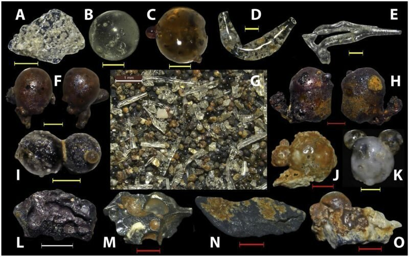 Форма хиросимитов разнообразна, но чаще всего встречаются объекты в виде шариков интересное, минералы, последствия, ядерный взрыв