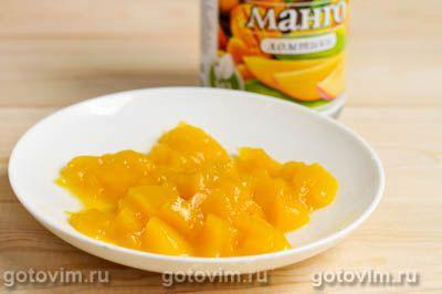 Творожный десерт с манго, Шаг 03