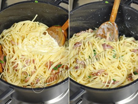 Картинки по запросу Как приготовить спагетти карбонара