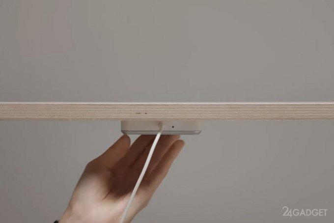 Появилась беспроводная зарядка Qi от IKEA для любого стола бытовая техника,гаджеты,мобильные телефоны,Россия,смартфоны,телефоны,техника,технологии,электроника