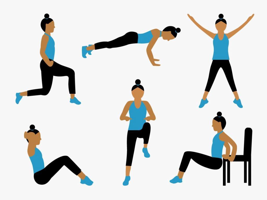 Семь упражнений для похудения