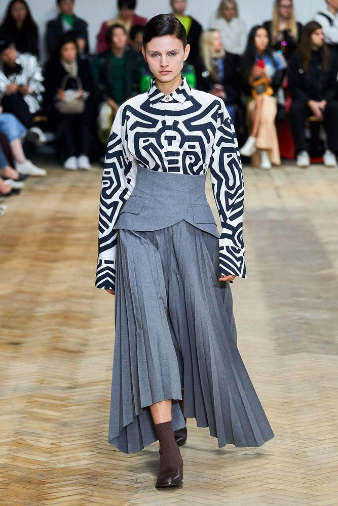 Весна 2020 — юбки сложного кроя, длина миди, фото № 35