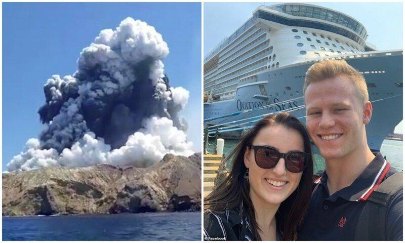 В Новой Зеландии вспыхнул вулкан: пара туристов спаслась в последнюю минуту